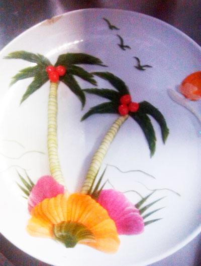 初次尝试拼盘---椰子树